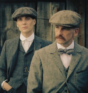 Tommy Shelby (Cillian Murphy, left) and Arthur Shelby (Paul Anderson)