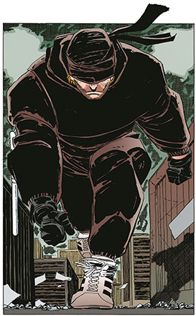 Daredevil as he appears in the comic