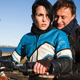 Noomi Rapace (left) starred in the adaptation of Stieg Larsson's Millennium's trilogy