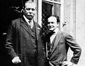 Arthur Conan Doyle (left) and Houdini are heading to ITV Encore