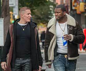 Curtis '50 Cent' Jackson (right) exec produces and has a role in Power
