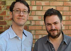 Jonathan Brackley (left) and Sam Vincent