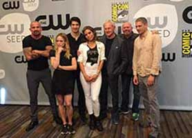 The cast of DC's Legends of Tomorrow gather at the San Diego event