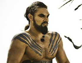 Jason Momoa, pictured here in Game of Thrones, has proved a popular choice among fans to play the lead role