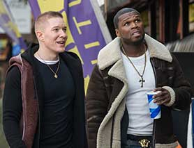 Curtis '50 Cent' Jackson (right) in Power, on which he is also an exec producer