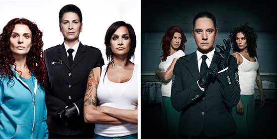 The original Wentworth (left) and its Dutch remake Celblok H, which airs on SBS 6