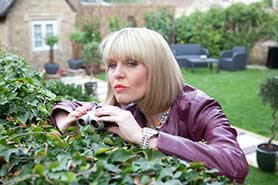 Ashley Jensen stars in Agatha Raisin, which returns for eight more mysteries