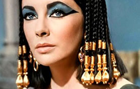 Elizabeth Taylor in the 1963 film Cleopatra, the most famous screen version of the Egyptian queen's story