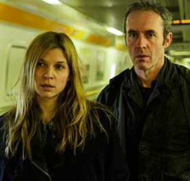 Clemence Poesy and Stephen Dillane in The Tunnel