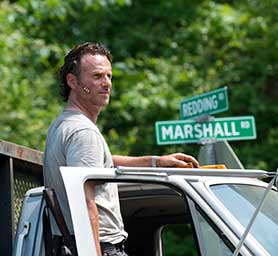 Andrew Lincoln in the sixth season of the original The Walking Dead