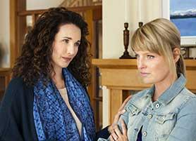 Cedar Cove stars Andie MacDowell (left)
