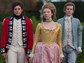 The Scandalous Lady W stars Game of Thrones' Natalie Dormer (centre)