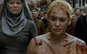 Cersei's 'walk of shame' was one of a number of shocking and controversial scenes from season five