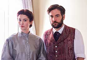 Mary Elizabeth Winstead and Josh Radnor in Mercy Street