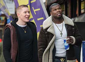 Curtis '50 Cent' Jackson (right) and Joseph Sikora in Power. Rapper Jackson is an executive producer on the series