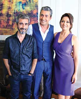 From left: Broken Pieces director Cevdet Mercan and stars Erkan Petekkaya and Nurgul Yeşilçay