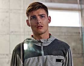 Kieron Richardson as Ste, one of a number of LGBT characters in Hollyoaks