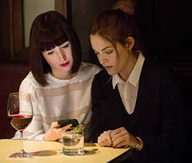 The Girlfriend Experience stars Riley Keough (right) as Christine