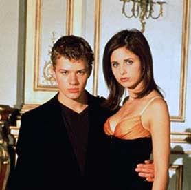 Ryan Phillippe and Sarah Michelle Gellar in the Cruel Intentions film