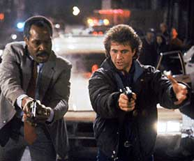 The Lethal Weapon film franchise starred Danny Glover (left) and Mel Gibson