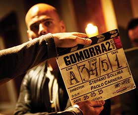 Filming on the Mafia hit Gommorah