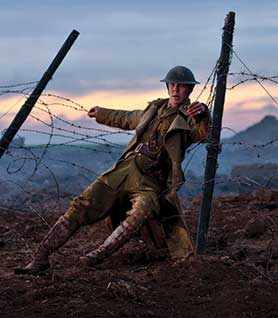 Benedict Cumberbatch in Parade's End, which was filmed in Belgium