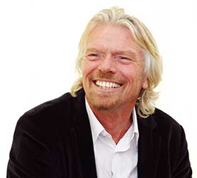 Felts started Virgin Produced alongside Virgin founder Richard Branson (pictured) and Malcolm in the Middle star Justin Berfield