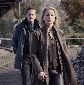 The Bridge stars Sofia Helin as Saga Norén