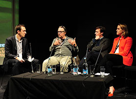 DQ editor Michael Pickard (far left) discusses Jekyll and Hyde with the team behind the show