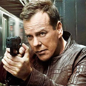 Kiefer Sutherland as 24's Jack Bauer
