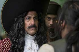 Acclaimed actor Stanley Tucci plays Captain Hook