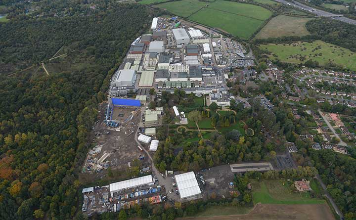 Pinewood Studios from above