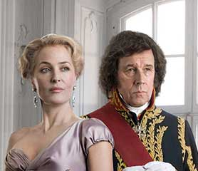 Stephen Rea in War and Peace alongside Gillian Anderson