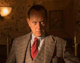 Richard E Grant was among the better-known names in the cast