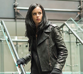 Krysten Ritter as the titular character in Jessica Jones