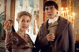 Gillian Anderson and Paul Dano in War and Peace