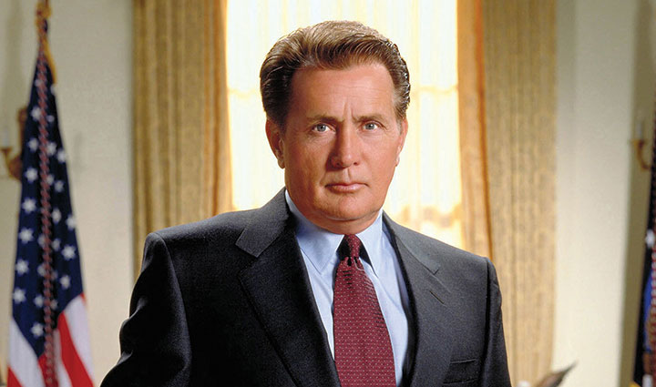 Sheen is best known for playing the US president in The West Wing