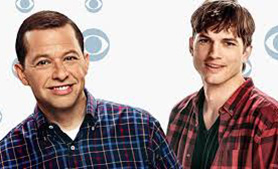 Ashton Kutcher (right) replaced Charlie Sheen on Two and a Half Men