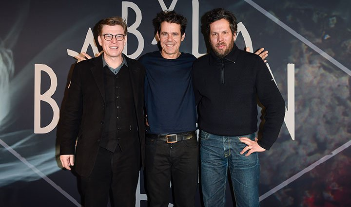 From left: Hendrik Handloegten, Tom Tykwer and Achim von Borries