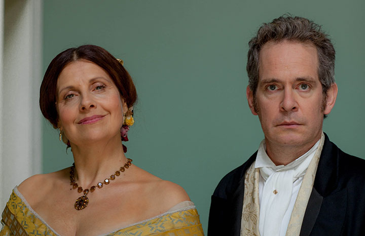 Rebecca Front and Tom Hollander in Doctor Thorne