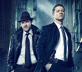 Gotham stars McKenzie (right) as the young James Gordon