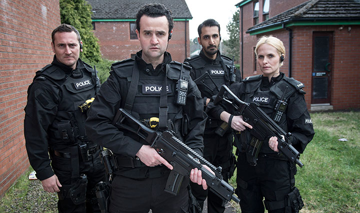 Daniel Mays (front) plays the 'damaged, twisted and unpredictable' Danny Waldron