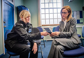 Happy Valley stars Sarah Lancashire (left)