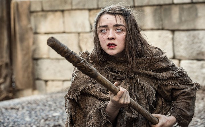 Maisie Williams as Arya Stark in HBO's Game of Thrones