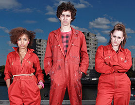 The original UK version of Misfits, which aired on E4
