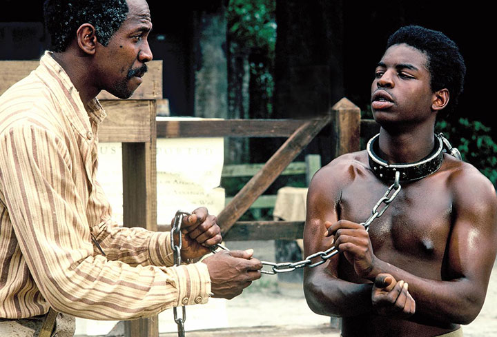 LeVar Burton (right) in the original Roots