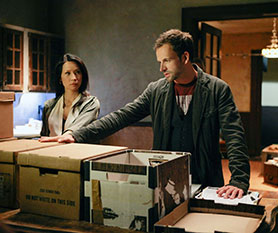 Elementary stars Lucy Liu and Johnny Lee Miller