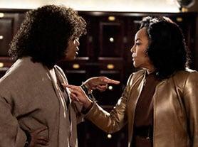 Oprah Winfrey (left) in Greenleaf