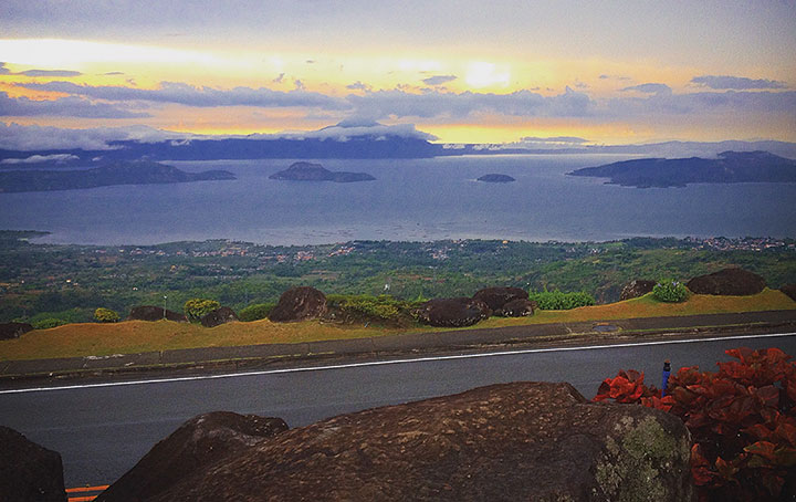 Alister's stay in the Philippines, specifically Tagaytay (pictured), didn't exactly go to plan
