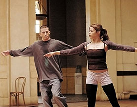 Channing Tatum and wife Jenna Dewan Tatum in the Step Up movie